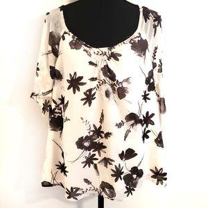 ♡  Loft size XL floral shirt